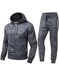 Homme Ensemble de Sport Sweatshirt à Capuche Pantalon Jogging  Survêtement,Gris Charbon,Bleu 9dfddec53260
