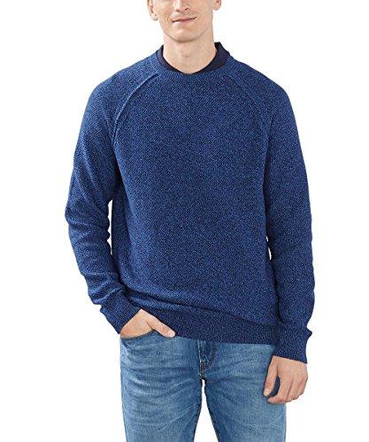 Esprit Mit Struktur-Regular Fit, Pull Homme Bleu (INK 415)