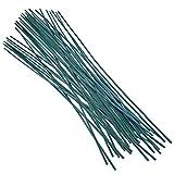 "KINGLAKE 50 Pcs 60cm (23.6"") Green Plant Support Sticks Canes Flowers Garden"