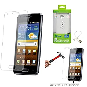 Qualitas Pack of 2 Tempered Glass for HTC Desire 816 + 6600 mAh Power Bank