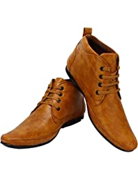d234a9c81688 Emosis Men s Stylish 0131 Tan Brown Black Colour Office Party Wear Formal  Lace-Up Derby