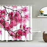 Jiamins Pfirsichblüte Thema Wasserdicht Stoff Home Decor Duschvorhang Liner Badezimmer