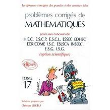 Mathématiques HEC 1995, tome 17 : Option scientifique