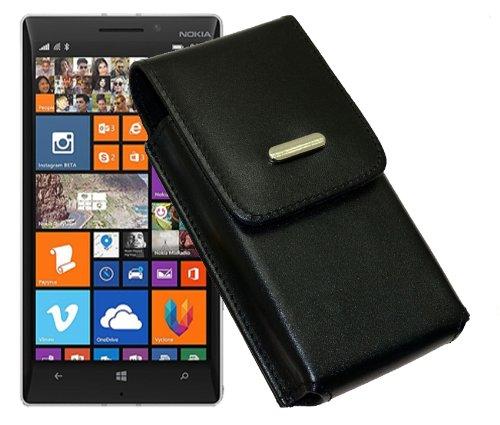 Vertikal Tasche für / Nokia Lumia 730 Dual SIM / Handytasche mit einer Gürtelschlaufe auf der Rückseite