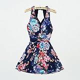 YXINY Bademode Badeanzüge Sommer Damen Plus-Größe Blumen-Drucken Körper Formen EIN Stück Schwimmen Kleider Badeanzug Baden Mädchen Bikinis (größe : XXL(68-75 kg))