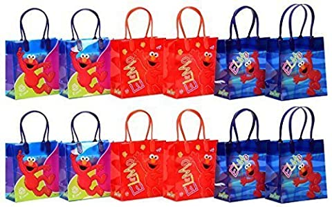 Sesame Street Elmo Party Favor Goodie Gift Bag - 6 Small Size (12 Packs)