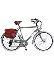 Via Veneto By Canellini Bicicleta Bici Citybike CTB Hombre Vintage Retro Via Veneto Aluminio Verde