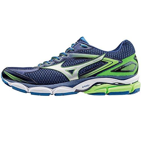 Mizuno Zapatillas de Running Wave Ultima Azul / Plata / Verde Flúor EU 46.5 (US 12.5)