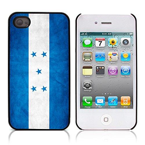 Graphic4You Vintage Uralt Flagge Von El Salvador Salvadorianisch Design Harte Hülle Case Tasche Schutzhülle für Apple iPhone 4 und 4S Honduras Honduraner