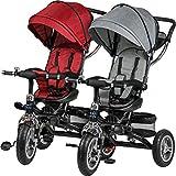 ib style AMABILE 7en1 Tricycle bébé | évolutif |Poussette | avec Guidon | Rouge