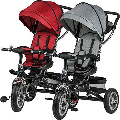 ib style MABU 7in1 Triciclo | Passeggino | con Manubrio | Rosso