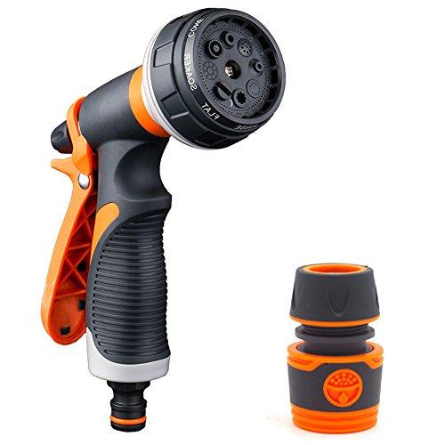Dachrinne Spule (feleph Garten Schlauchtülle 8Sprühen Modi Easy Flow Einstellknopf ergonomischen Trigger High Pressure Garten Spray Düse für Auto waschen/Anlage als/zeigt, Pets)