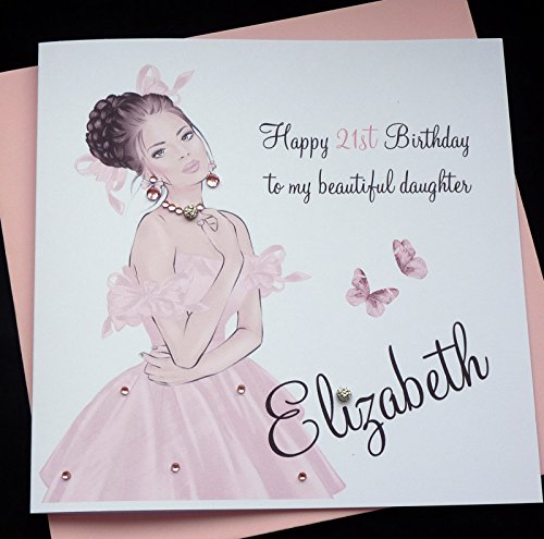 Handmade Personalised Birthday Card / sister friend daughter granddaughter goddaughter niece16th 18th 21st 30th 40th etc