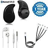 Best Music Earbuds With Mic For Androids - Drumstone Wireless S530 Mini (Call & Music) Headset Review