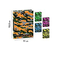 Takestop® Camouflage Coloured Daily Planner, 15 x 11 cm, Pocket Diary, Notes, Hard Cover, School, Children