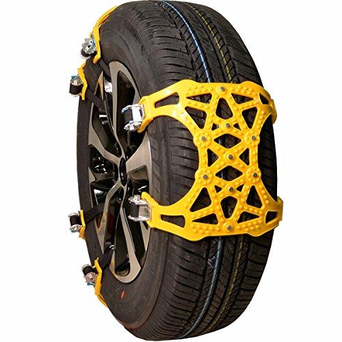 Lot de 10 cha/înes /à neige antid/érapantes en TPU pour pneus de voiture