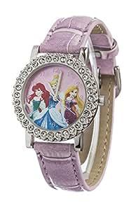 Disney Princess Children's Quartz Watch with Multicolour Dial Analogue Display and Multicolour PU Strap DP160