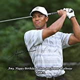 Tiger Woods - Masters Golf 3 Personalised Gift Print Mouse Mat Autograph Computer Rest Mouse Mat Compatible with Laser and Optical Mice (No Personalised Message)