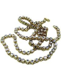 """Iced Out 5mm 32""""Hip Hop Bling Bling diamantes de imitación con cadena–chapado en oro"""