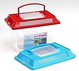 Plastique Petit Aquarium-Aquarium Reptile insectes Poissons rouges Cage Poignée de transport Couvercle