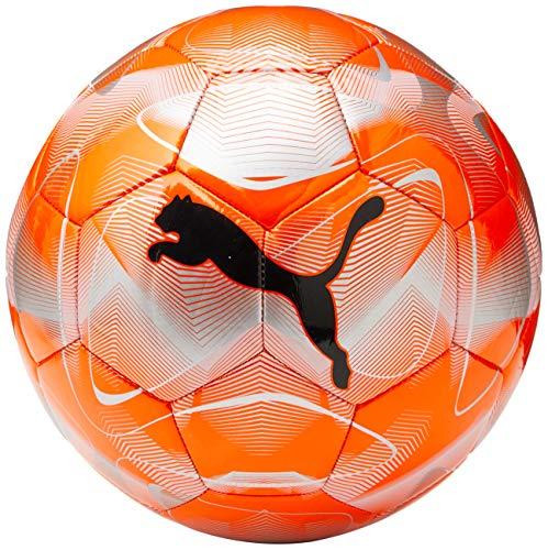 PUMA Unisex- Erwachsene Future Flash Ball Fußball, NRGY Red-Silver-Grey Dawn Black, 5