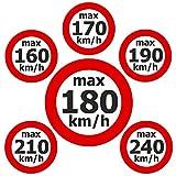 Geschwindigkeitsaufkleber 'max. 160 - 240 km/h' - Set je 6 x 100 Stück