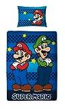 Character World Nintendo Super Mario BROTHERS Wende-Bettwäsche 135x200/48x74 cm