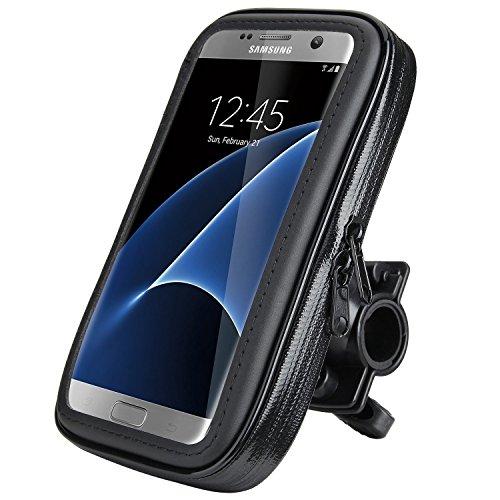 Electro-Weideworld-Fahrradhalterung-Lenkradhalterung-Bike-Holder-Phone-Holder-mit-wasserdichter-Schutzhlle-Tasche-Universal-fr-Smartphones-55-Zoll-62-Zoll-passend-fr-iPhone-XiPhone-88-Plus