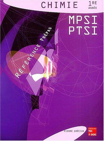 Chimie 1re année MPSI PTSI