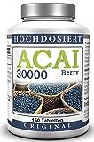 ACAI Beere 30000 - Ultra-Hochdosiert (50 Tage-Kur) - Brasilianischer Acai Berry Extrakt (150 Tabletten)