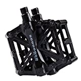 Mountain Bike Pedali in Lega di Alluminio Piattaforma per Strada BMX Biciclette Fixed Gear 9/16 Nero
