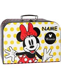 """Koffer / Kinderkoffer - """" Disney Minnie Mouse """" - Pappkoffer - groß - Puppenkoffer Koffer - Reisekoffer aus Pappe mit Metall Griff - für Kinder Mädchen - Geschenkekoffer - Karton - Spielekoffer - groß - ideal für Spielzeug und als Geldgeschenk - Reisekoffer / Geschenkekoffer - Spielzeugkoffer - Malkoffer / Köfferchen - Motivkoffer - Maus / Playhouse Mäuse - gepunktet - Herzen Punkte"""