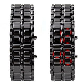 LED-Armbanduhr für Herren/Jungen-Samurai, mit japanischen Stil, LED