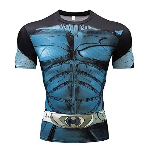 Überprüfen Sie Die Druck-polo (God Drive&520 T-Shirt, kurzärmelig, klassisch, Superman Batman, 3D-Druck, Sport-Tights, Training im Freien)