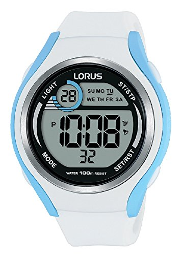 Lorus Unisex-Adult Digital Watch with Silicone Strap R2387LX9