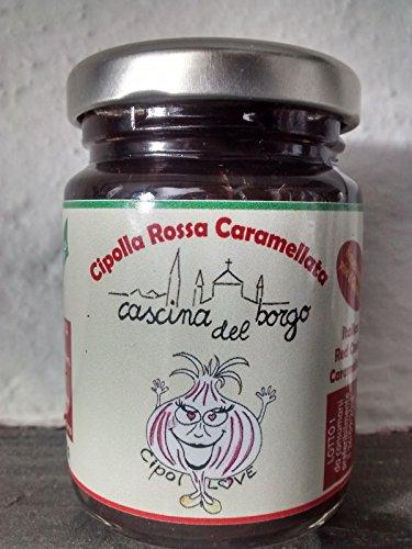 Cipollove cipolla rossa italiana caramellata vasetto 100gr confezione da 4 vasetti da 100 gr l'uno, ottima idea per cesti natalizi. offerta lancio cipolle rosse zero spese di spedizione