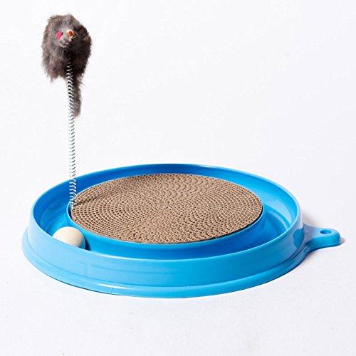 lzndeal Katze Kätzchen Turbo Scratcher Kratzen Pad Board Spielzeug mit Ball Maus Training spielen Spaß liefert