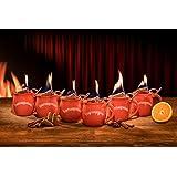 Feuerzangentasse 6er-Set für Feuerzangenbowle, Glühwein (Weihnachtsrot)