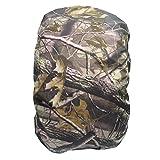 UEETEK Nylon wasserdicht Blatt Muster Rucksack regen Abdeckung für Wandern, Camping Reisen, unterstützt 25-40L Rucksack