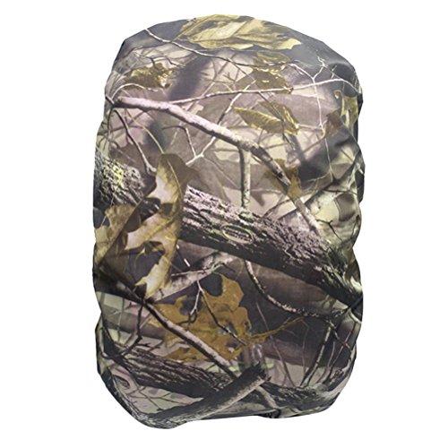 sack Wasserdicht Abdeckung Camping Wandern Rucksack Regenschutz (Blatt Camouflage) ()