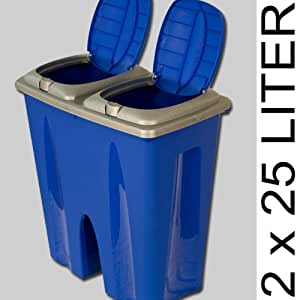Double recycling bin with 2x25L compartments KITCHEN