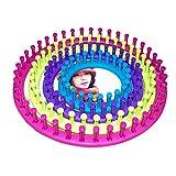 ULTNICE Strick Rahmen Runde knitting loom Strickring Set für Anfänger DIY stricken mit verschiedenen Größen 4pcs (zufällig Farbe)