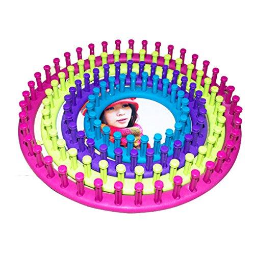 ULTNICE Strick Rahmen Runde knitting loom Strickring Set für Anfänger DIY stricken mit verschiedenen Größen 4pcs (zufällig Farbe) -