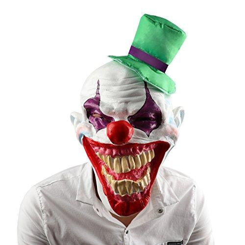 Halloween Latex Clown Maske, XIAO MO GU Erwachsenen Kostüm Zubehör für Kostüm Parteien, Fasching Karneval (Clown Kostüme Beste)