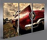 islandburner Bild Bilder auf Leinwand Amischlitten V2 3p XXL Poster Leinwandbild Wandbild Dekoartikel Wohnzimmer Marke