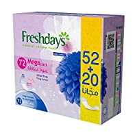 Freshdays Daily liners Long Scented 72 pads