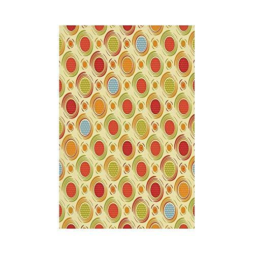 Diagonal Dots (Liumiang Eco-Friendly Manual Custom Garden Flag Demonstration Flag Game Flag,Abstract,Repeating Pattern Colorful Big Little Polka Dots Circles Diagonal Striped Design,Multicolore d¨¦COR)