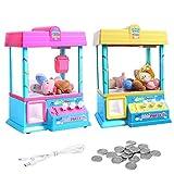 Funihut Claw Toy Candy Grabber máquina LED Lights, USB muñeca Grabber Claw máquina niños Clip de música muñeca de Pelota máquina de Juego máquina de Dulces Fete Foraine cumpleaños