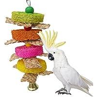 Vogelkäfig-Spielzeug für Papageien, Aras, Graupapageie, Wellensittiche, Kakadus, Sittiche, Nymphensittiche, Finke
