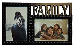Personalized 2 Photos Rectangle Family Photo Frame Picture Table Top Best For An Ideal Gift